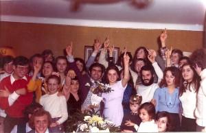 Fiançailles de Salvator et Patricia - Le groupe de jeunes