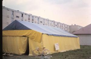 La tente à la grande pâture